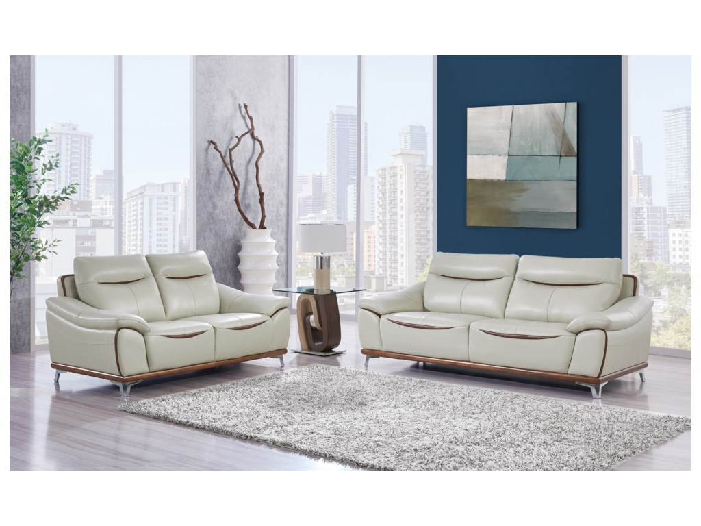 Global Furniture U8351Stationary Living Room Group