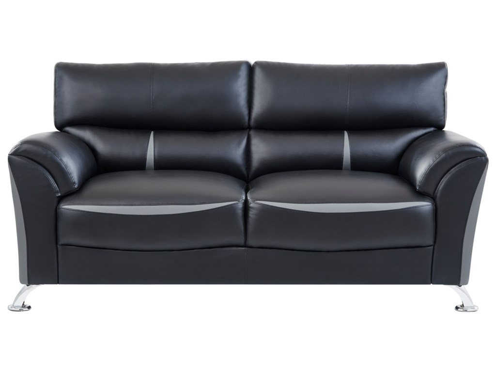 U9100 Contemporary Sofa with Padded Arms by Global Furniture at Rooms for  Less
