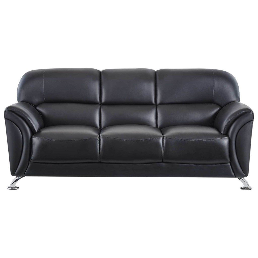 Global Furniture U9103 U9103 Bl S Contemporary Faux Leather Sofa