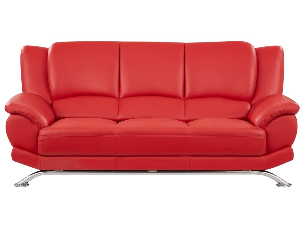 U9908 Sofa With Chrome Legs By Global Furniture At Value City