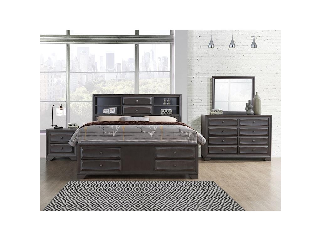 Global Furniture WyattKing Bedroom Group