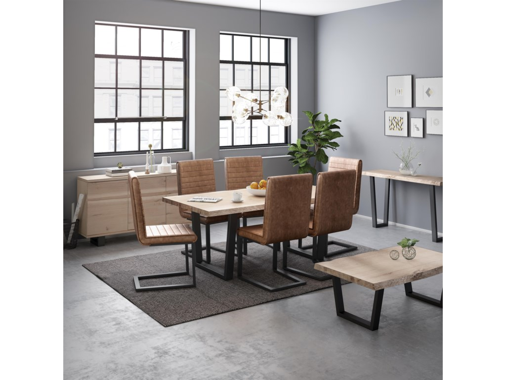 Global Home Oak Mill5 Piece Dining Package