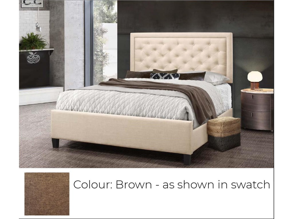 Global Trading Unlimited B622 - Ready to AssembleUpholstered Bed - Brown