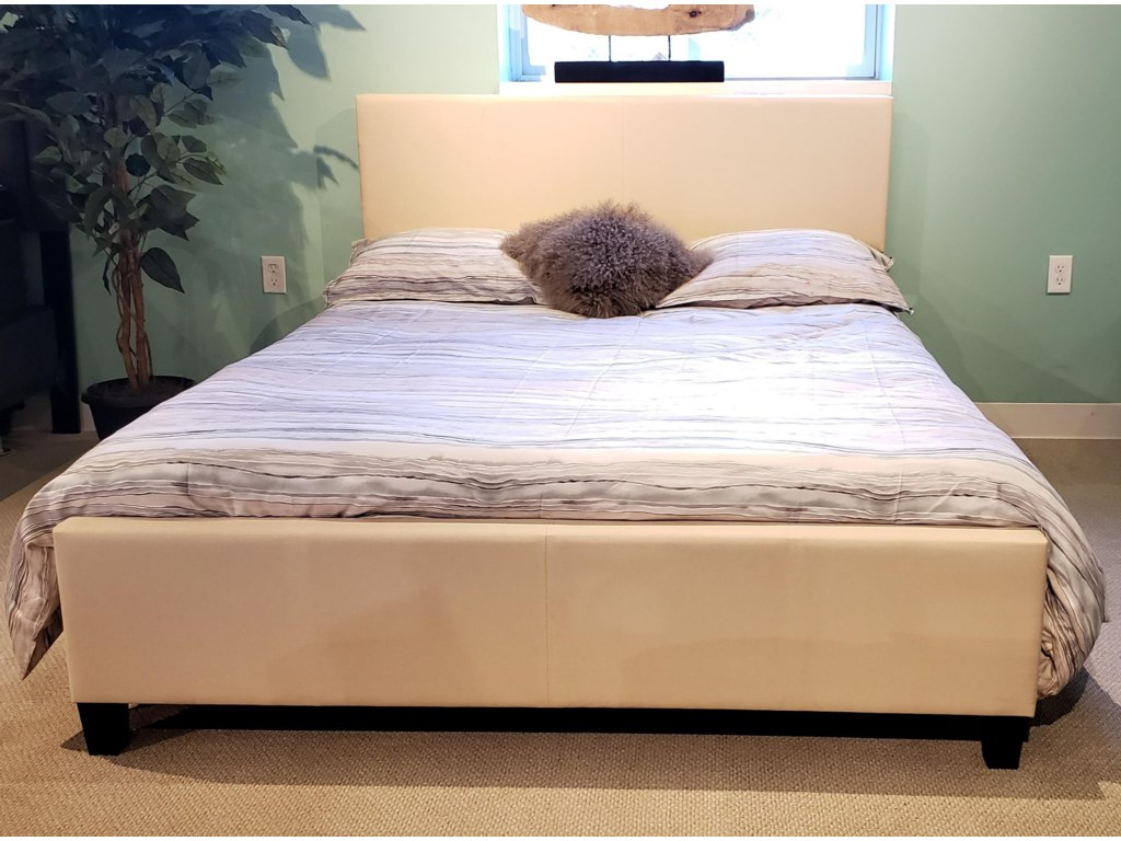 Global Trading Unlimited B690 - Ready to AssembleUpholstered Bed - Beige