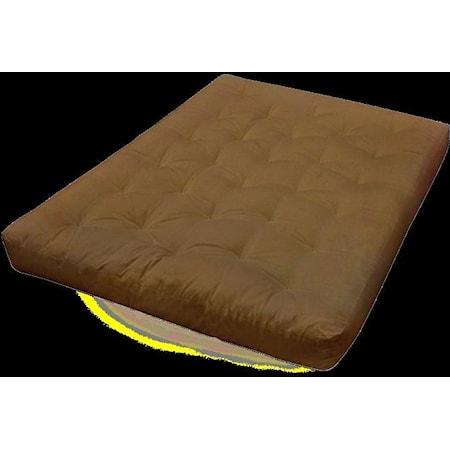 "9"" Feather Touch Futon Mattress - Chocolate"
