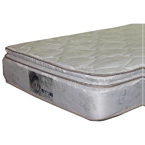 Golden Mattress Company 5-Series III PT Twin Pillow Top Mattress and 9