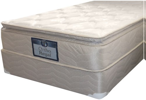 Golden Mattress Company Regal III Pillow Top Queen Plush Pillow Top Mattress and 9