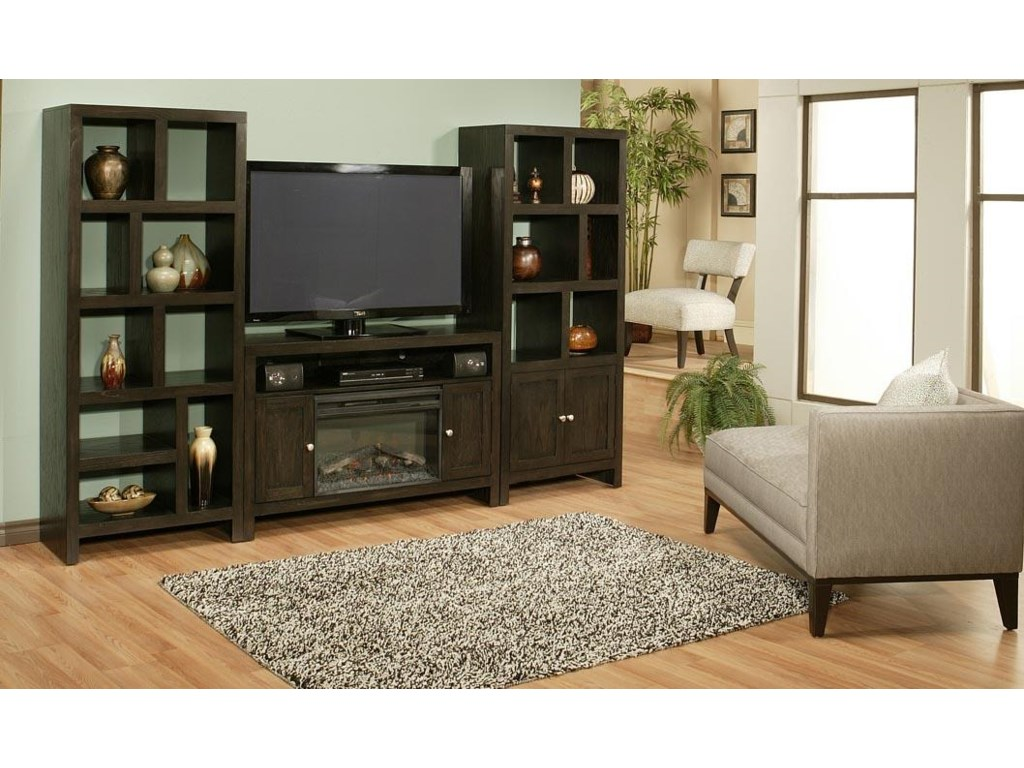 Shown with TV Console and Room Divider Tower with Door