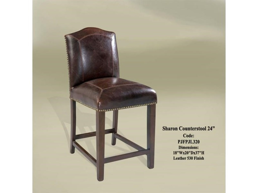 GrassRoots Imports SharonSharon Counterstool leather