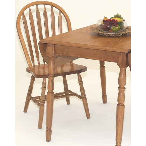 GS Furniture Classic Oak Casual Arrowback Side Chair