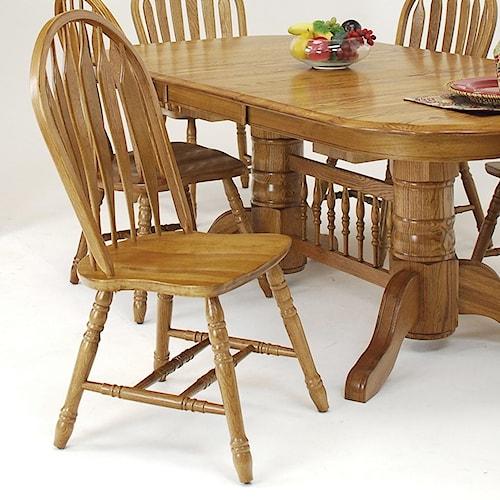 GS Furniture Classic Oak Casual Monarch Side Chair
