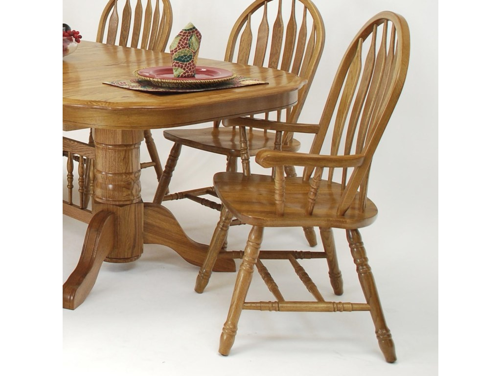 GS Furniture Classic OakMonarch Arm Chair