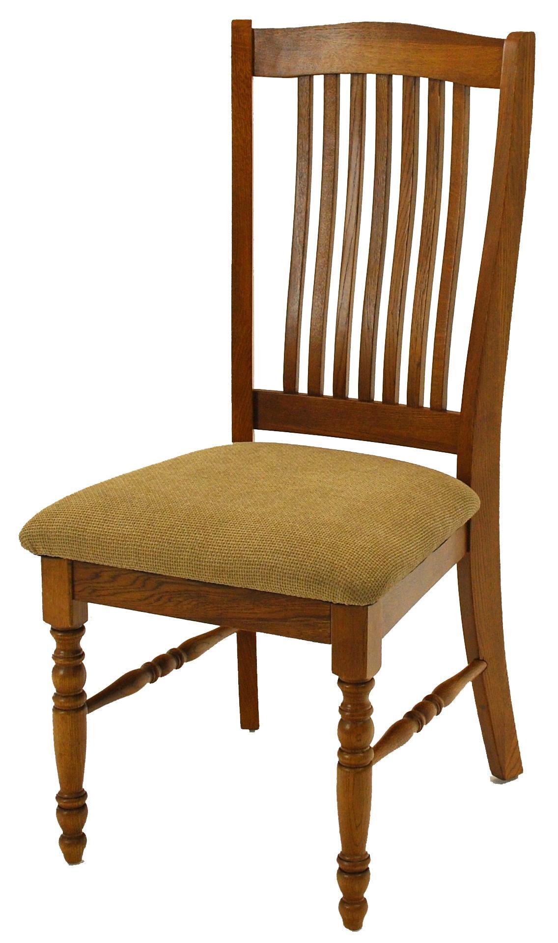 GS Furniture Classic Oak Solid Oak Urbandale Cushion Side Chair