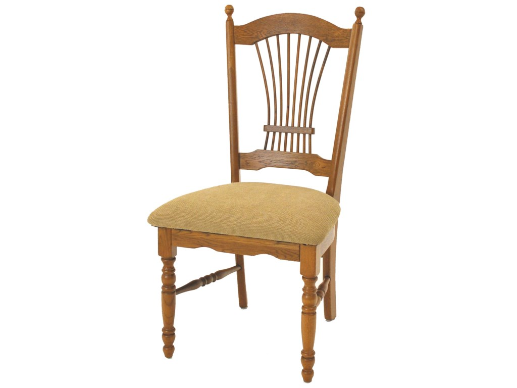 GS Furniture Classic OakSheaf Back Side Chair with Cushion