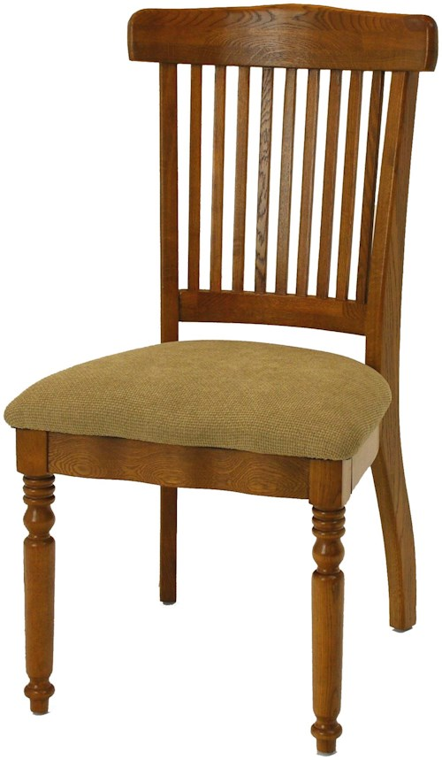 GS Furniture Classic Oak Grand Dining Side Chair with Seat Cushion
