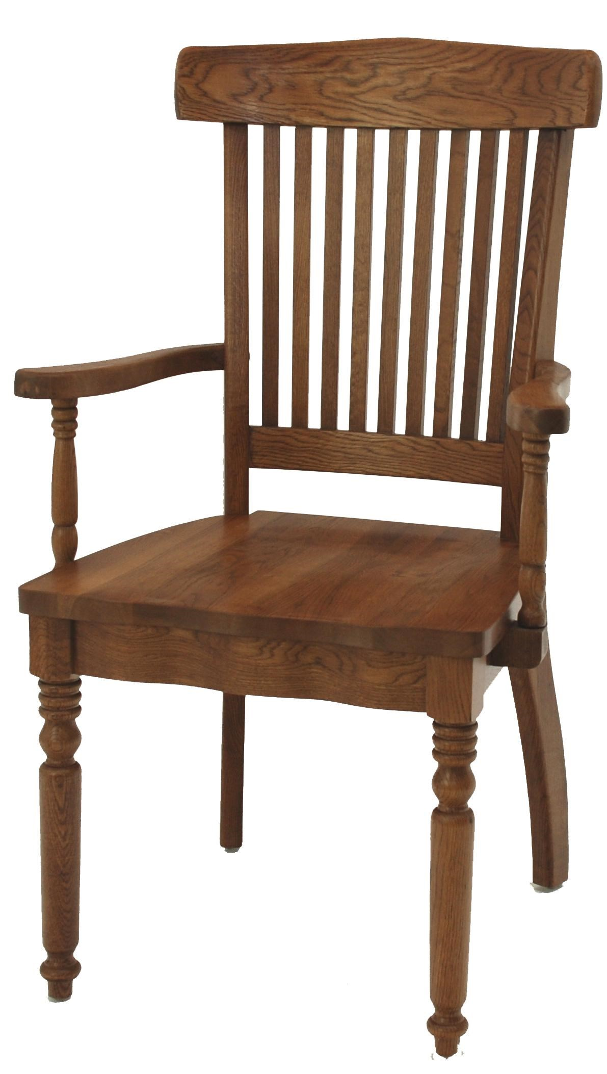Gs Furniture Classic Oak Grand Dining Arm Chair A1