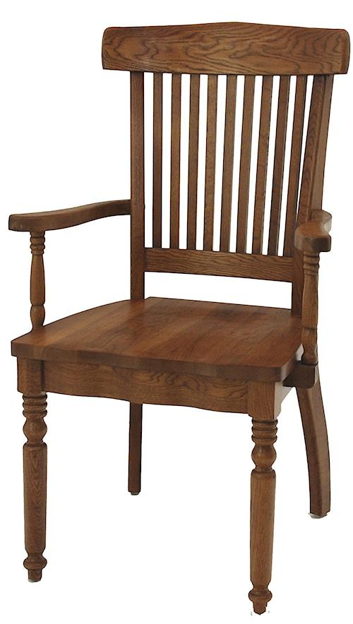 GS Furniture Classic Oak Grand Dining Arm Chair