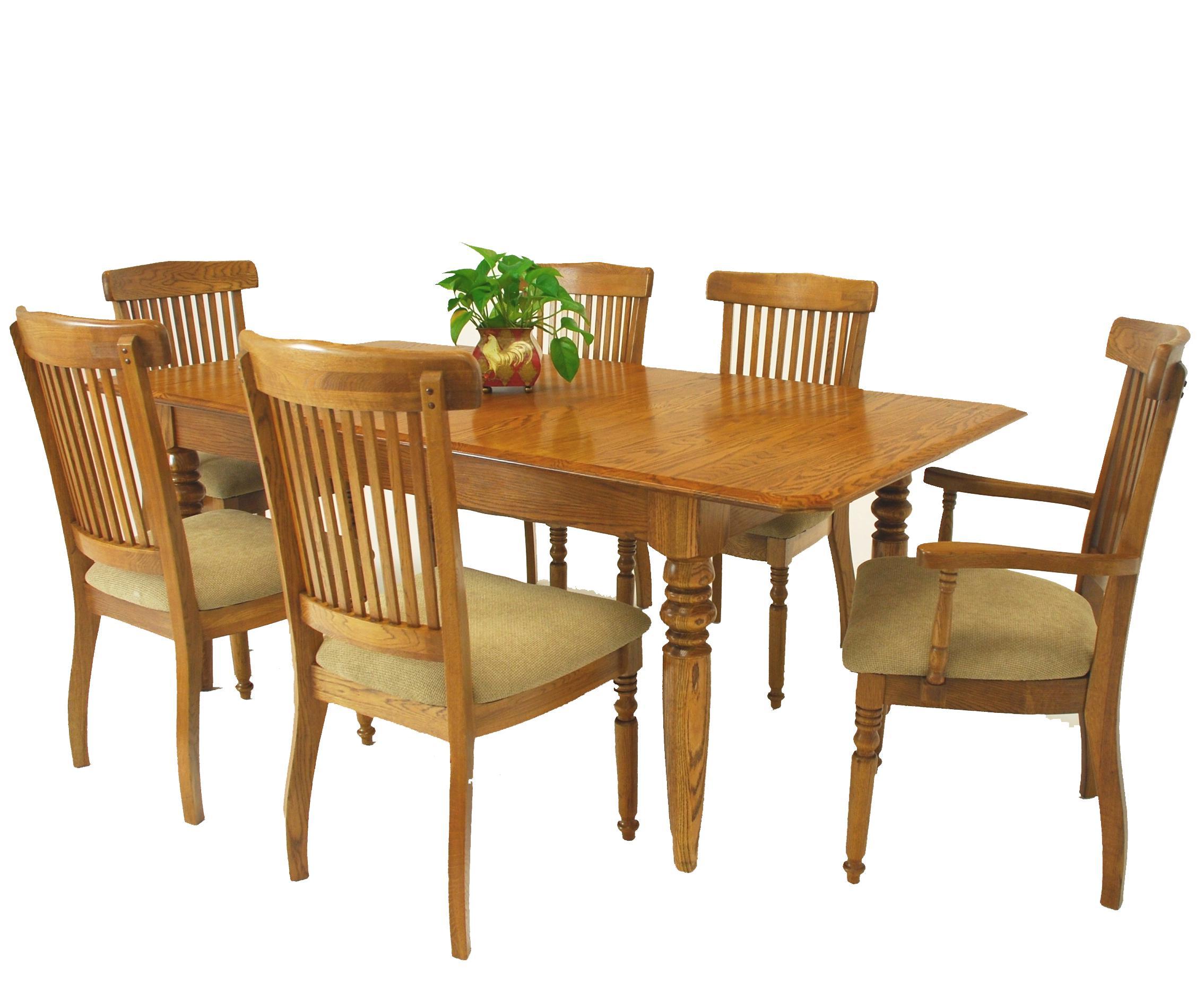 Attirant GS Furniture Classic Oak 7 Piece Solid Oak Extension Dining Table U0026 Grand  Chair Set