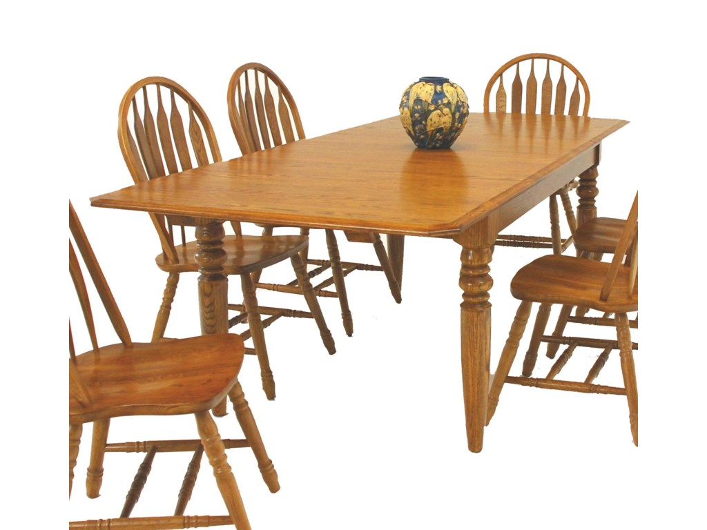 GS Furniture Classic OakRectangular Dining Table with Two 15