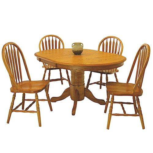GS Furniture Classic Oak 5-Piece 42