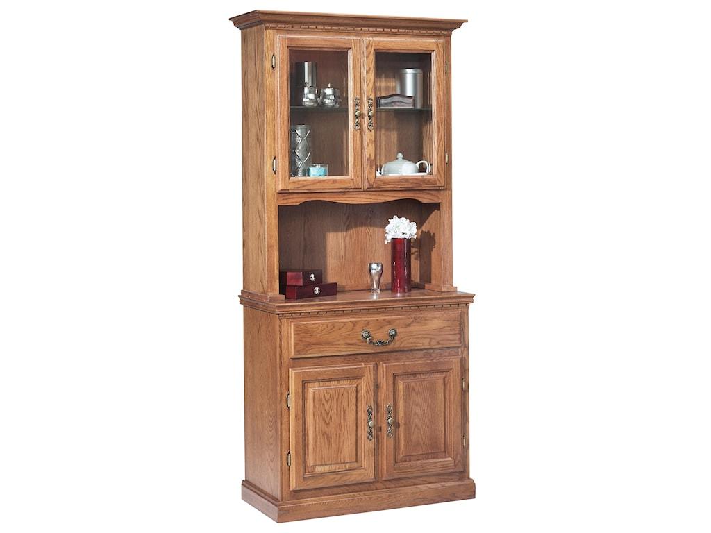 GS Furniture Classic OakChina Cabinet