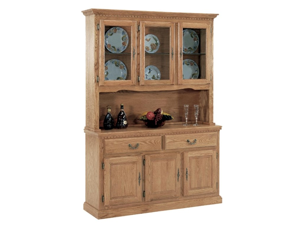 GS Furniture Classic OakChina Cabinet