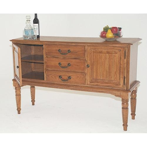 GS Furniture Classic Oak Casual Server