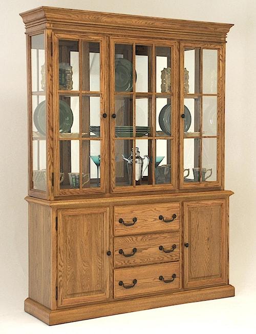 GS Furniture Classic Oak Casual China Cabinet