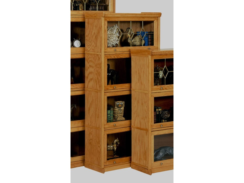GS Furniture Classic Oak4 Stack Lawyers Bookcase