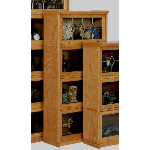GS Furniture Classic Oak Casual 4 Stack Lawyers Bookcase