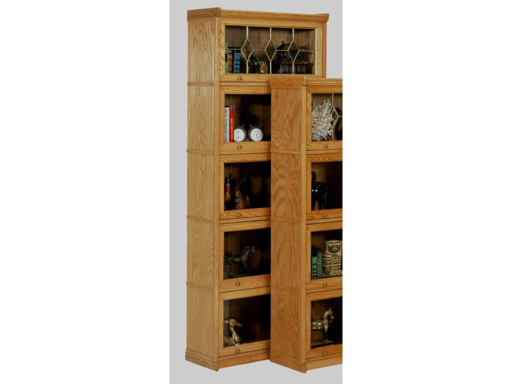 GS Furniture Classic Oak5 Stack Lawyers Bookcase