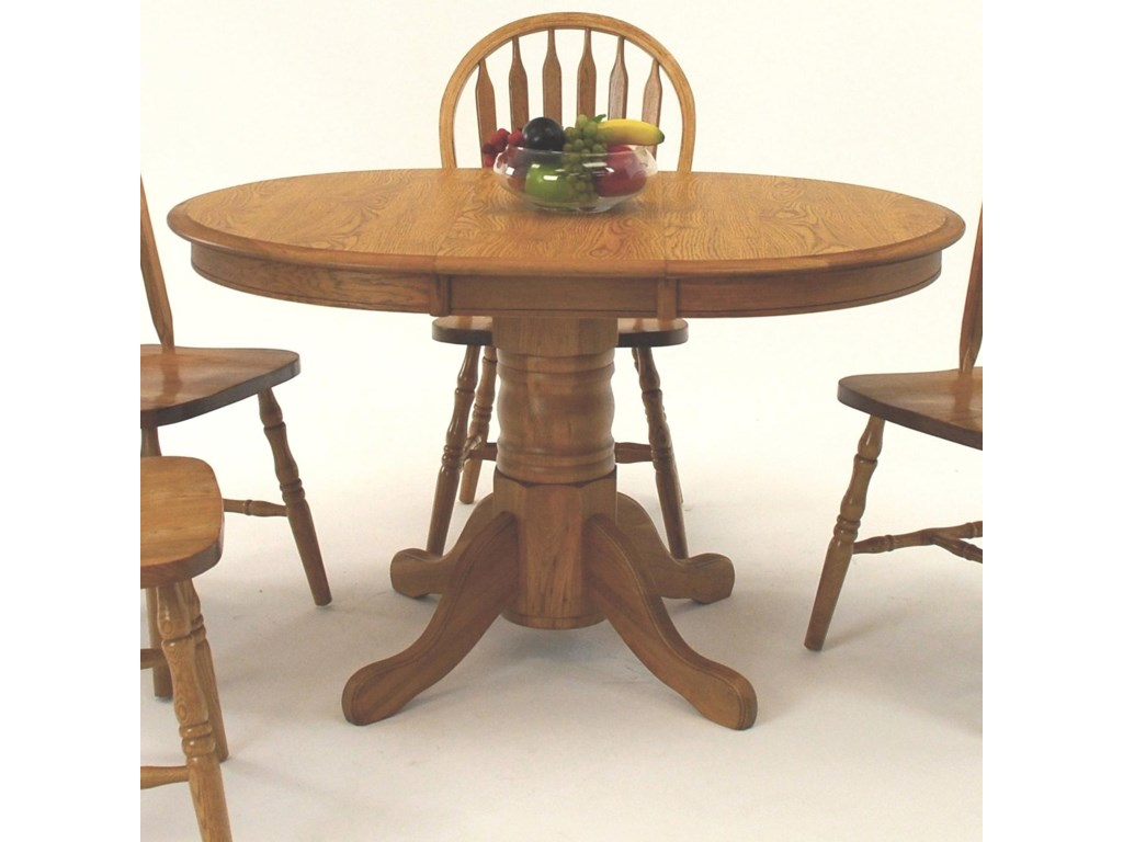 GS Furniture Classic OakOval Dining Table with 12