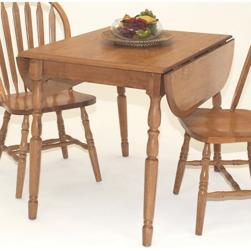 GS Furniture Classic Oak Casual Dropleaf Table with Laminate Top