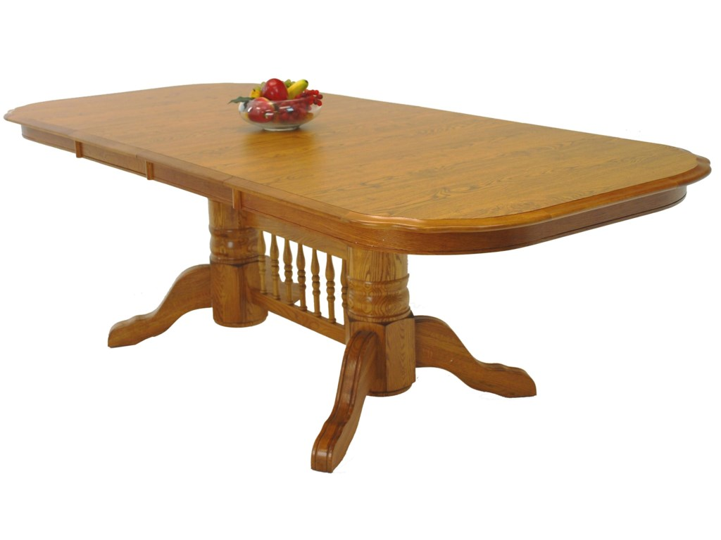 GS Furniture Edgewood EW Casual Rectangular Trestle Table ...