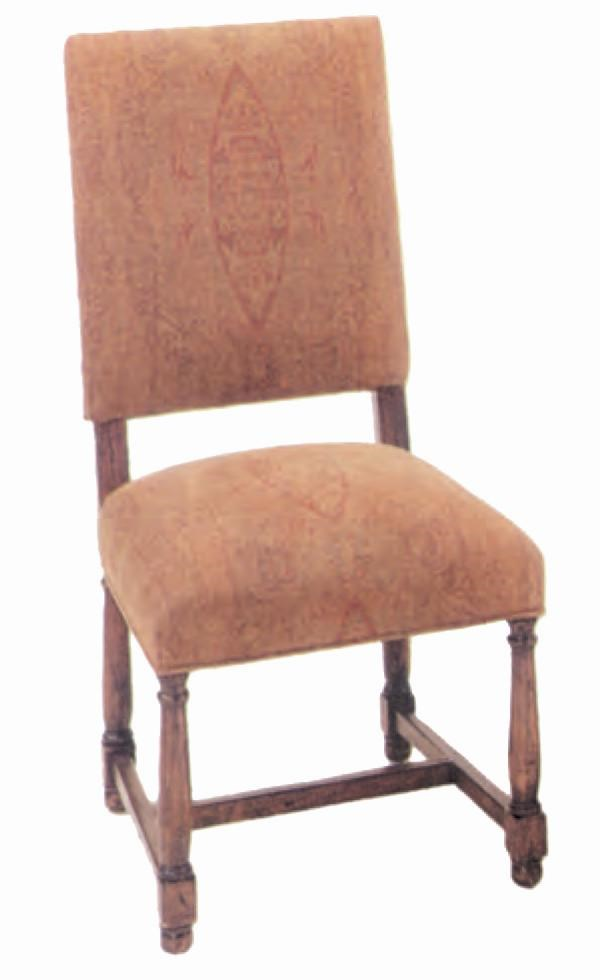 Guy Chaddock Melrose Custom Handmade Furniture Country English Upholstered  Side Chair