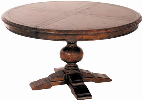 Guy Chaddock Melrose Custom Handmade Furniture Country English Round Pedestal Table with Optional Extensions