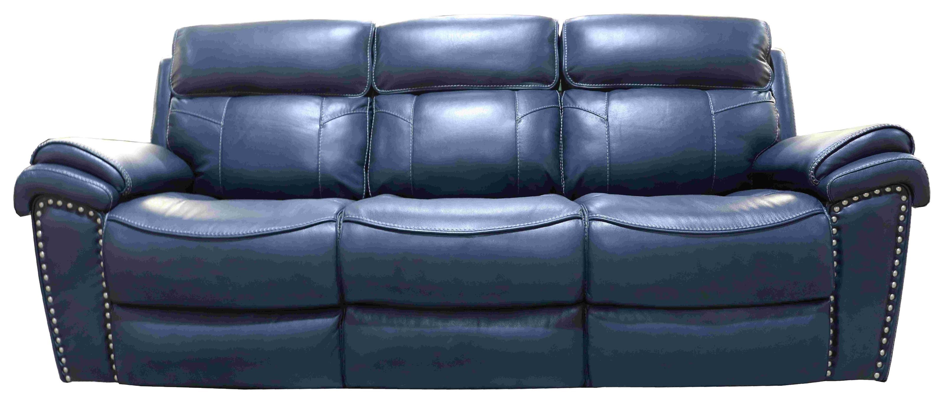 Leather Match Dual Reclining Power Sofa