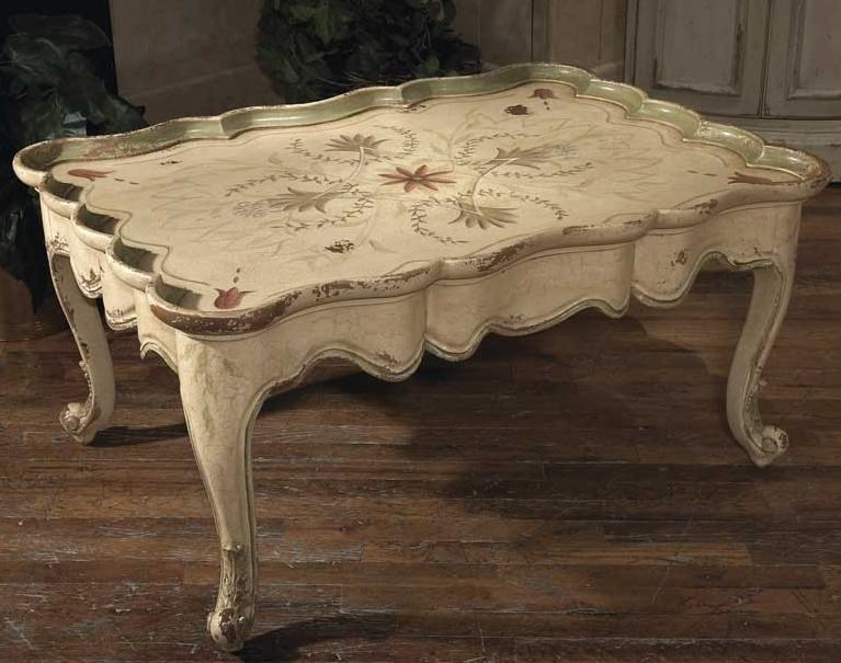 habersham occasional tables francesca coffee table with hand painted florals