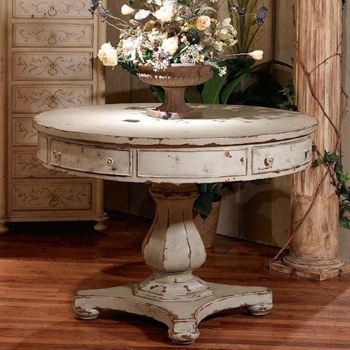 Foyer Table Name : Habersham occasional tables pedestal hall table with