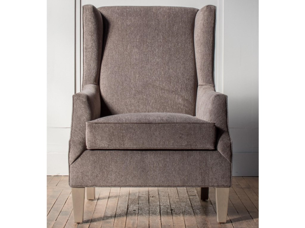 Hallagan Furniture Accent ChairsCustomizable Wing Back Accent Chair