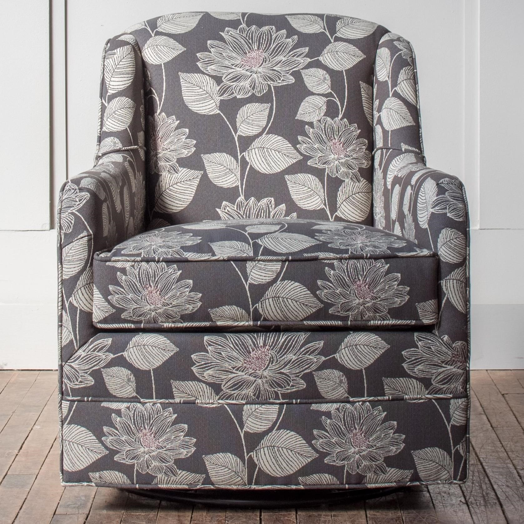 Picture of: Hallagan Furniture Accent Chairs Customizable Swivel Glider Chair Wayside Furniture Upholstered Chairs