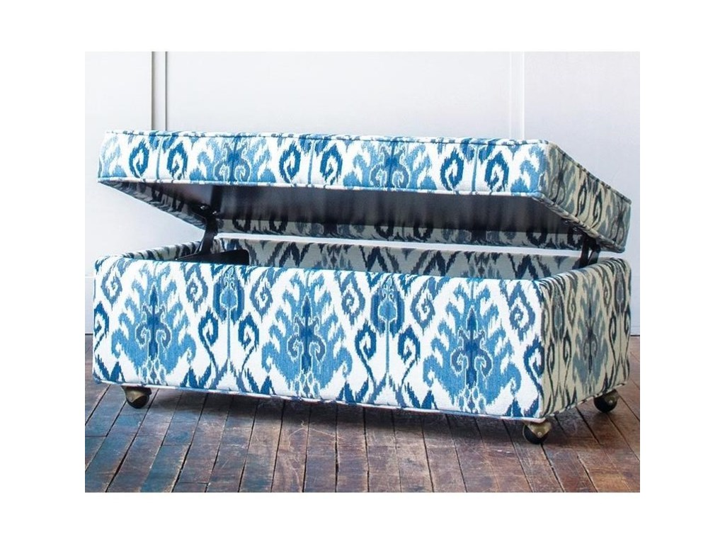 Hallagan Furniture Accent Ottomans - HallaganCustomizable Storage Ottoman