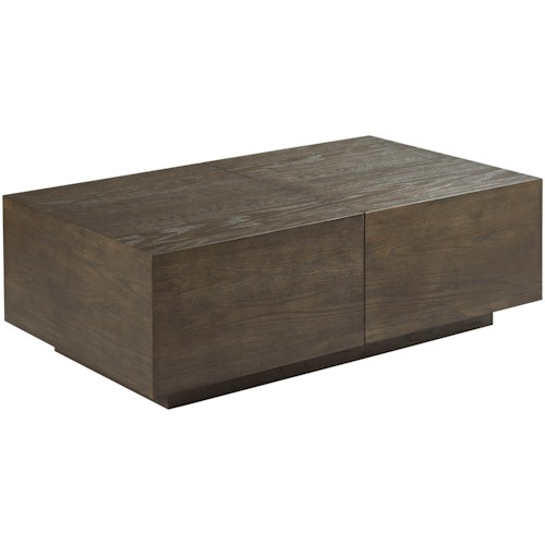 Hammary Essence Rectangular Cocktail Table with Storage