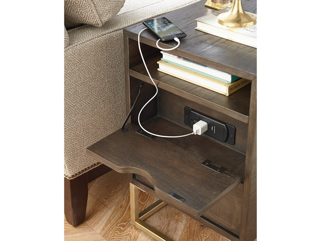 Hammary EssenceCharging Chairside Table