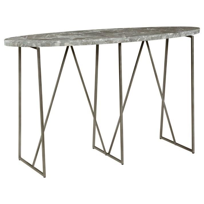 Hammary Alexa Marble Top Oval Console Table