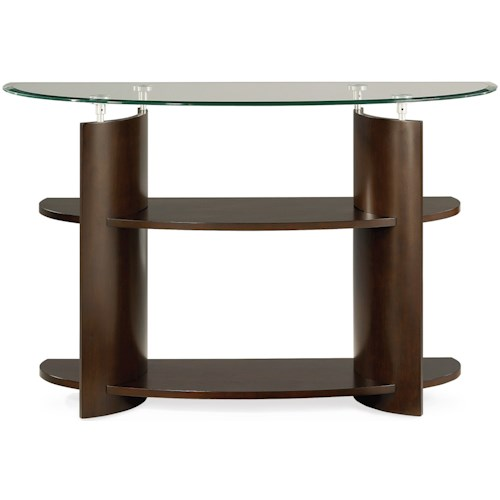 Hammary Apex Glass Top Sofa Table