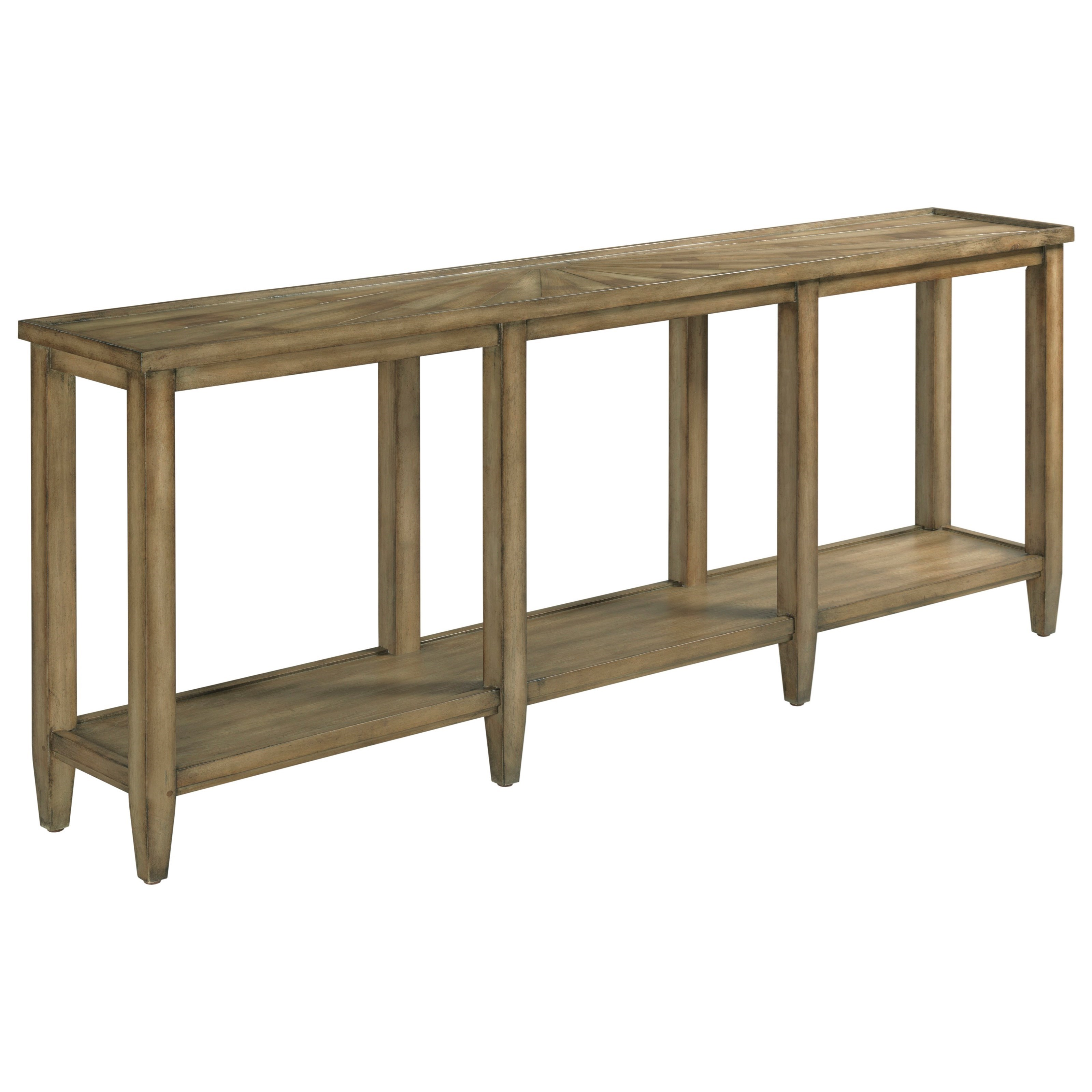 Transitional Sofa Table with Shelf