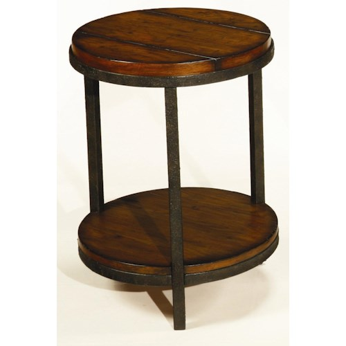 Hammary Baja Round End Table with Shelf