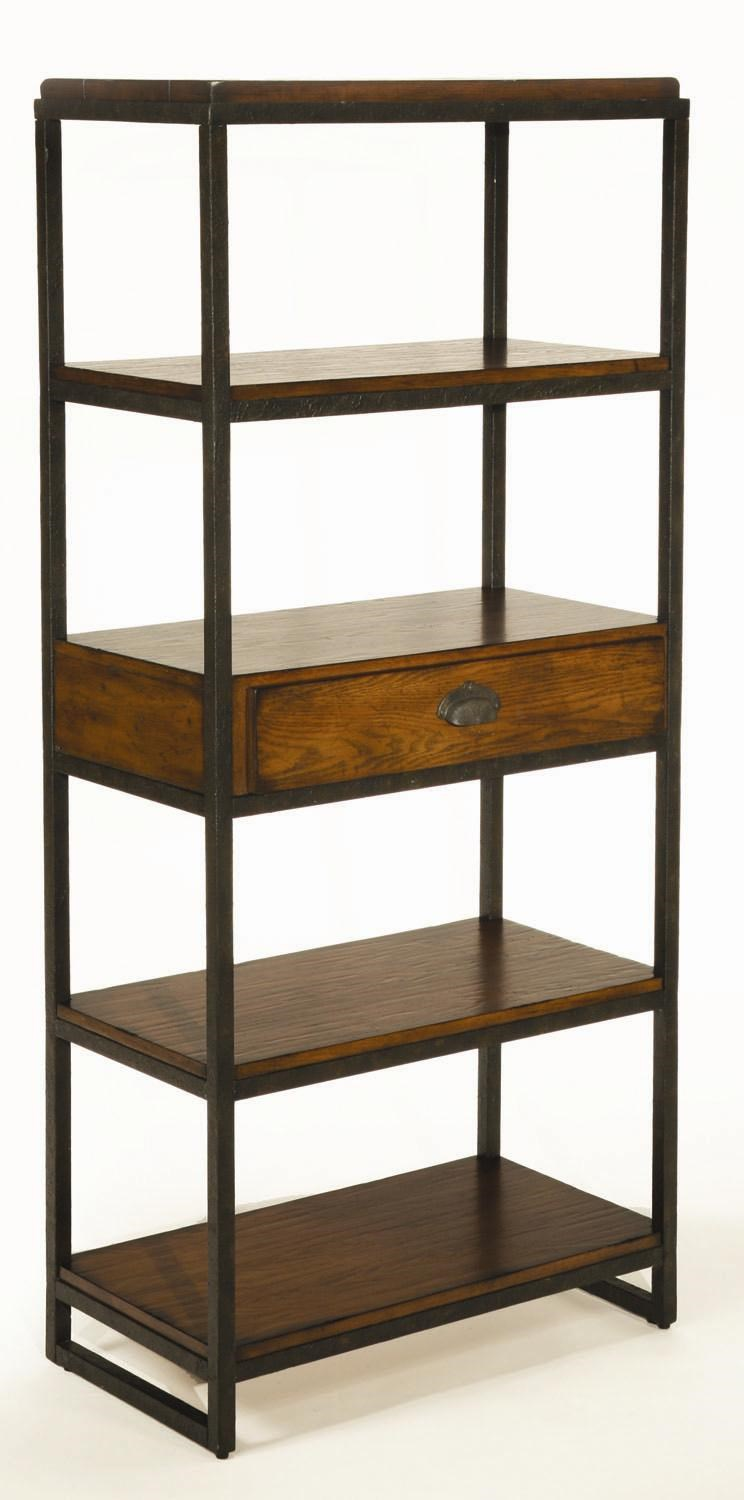hammary baja etagere with 4 shelves and drawer - wayside furniture