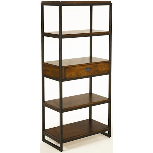 Hammary Baja Etagere with 4 Shelves and Drawer